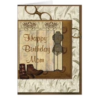 Vintage Steampunk Collage Birthday Card