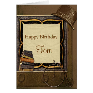 Vintage Steampunk Collage Birthday Greeting Card