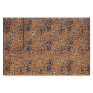 Vintage Steampunk Gears Wallpaper Tissue Paper