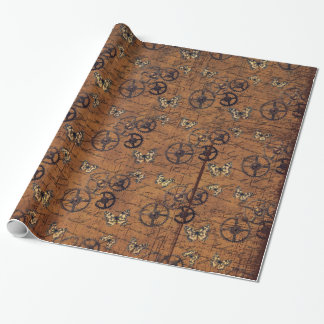 Vintage Steampunk Gears Wallpaper Wrapping Paper