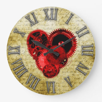 Vintage Steampunk Heart No.2 Clocks