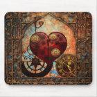 Vintage Steampunk Hearts Wallpaper Mouse Mat