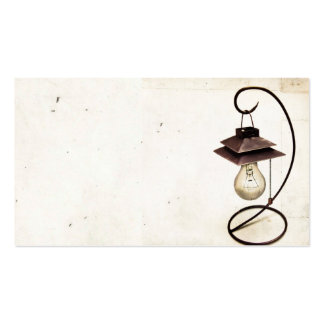 Vintage Steampunk Lamp Business Card