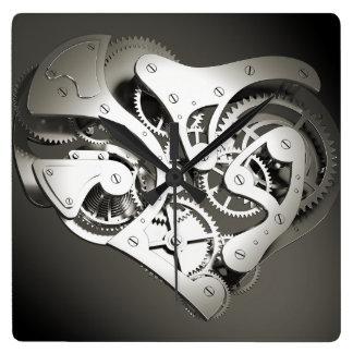 Vintage Steampunk Mechanical Heart - B&W Wall Clocks