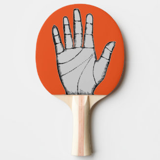 Vintage Steampunk Metal Hand Ping Pong Paddle