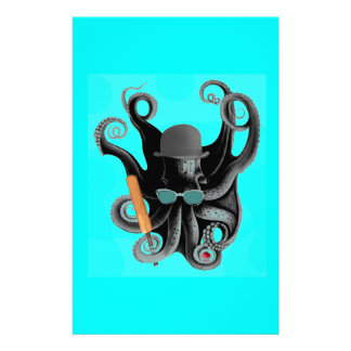 vintage steampunk octopus cricketer stationery