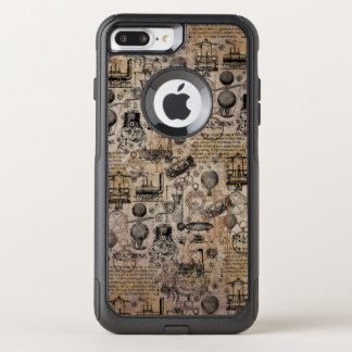 Vintage Steampunk OtterBox Commuter iPhone 7 Plus Case