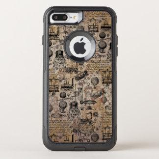 Vintage Steampunk OtterBox Commuter iPhone 8 Plus/7 Plus Case