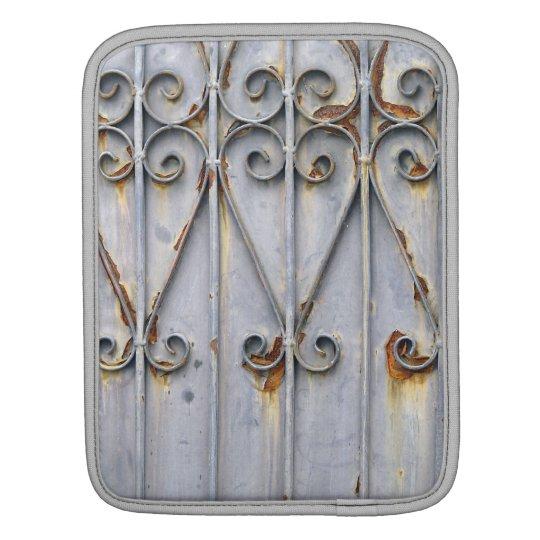 Vintage steampunk patterned metal photo sleeve iPad sleeve