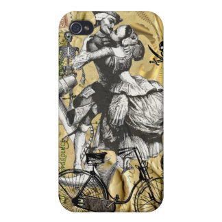 Vintage steampunk pirate cover for iPhone 4