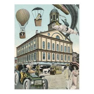 Vintage Steampunk Science Fiction Victorian City Postcards