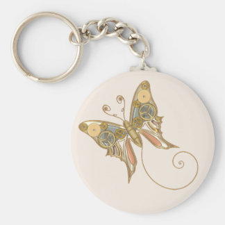 Vintage Steampunk Style Mechanical Butterfly Key Ring