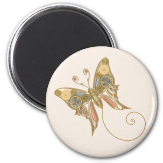 Vintage Steampunk Style Mechanical Butterfly Magnet