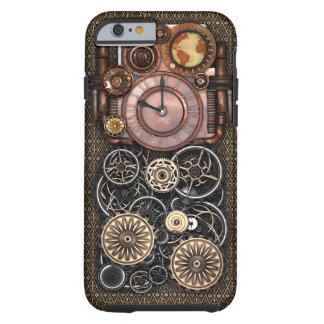 Vintage Steampunk Timepiece Redux Tough iPhone 6 Case
