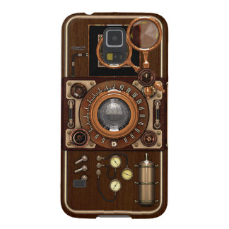 Vintage Steampunk TLR Camera Galaxy S5 Covers