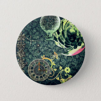 Vintage Steampunk Wallpaper 6 Cm Round Badge