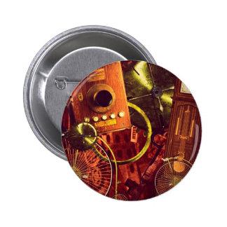 Vintage Steampunk Wallpaper 6 Cm Round Badge