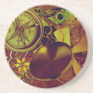 Vintage Steampunk Wallpaper Coaster