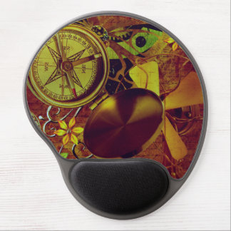 Vintage Steampunk Wallpaper Gel Mouse Pad