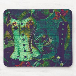 Vintage Steampunk Wallpaper Mouse Pad