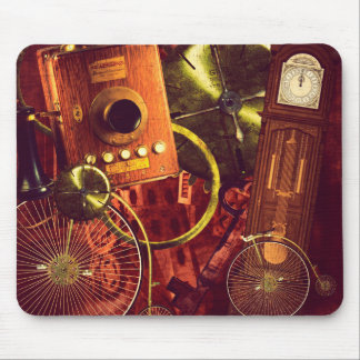 Vintage Steampunk Wallpaper Mouse Pad