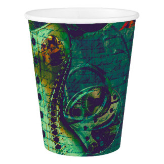 Vintage Steampunk Wallpaper Paper Cup