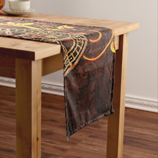 Vintage Steampunk Wallpaper Short Table Runner