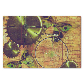 Vintage Steampunk Wallpaper Tissue Paper