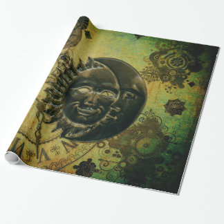 Vintage Steampunk Wallpaper Wrapping Paper