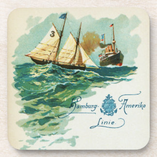 Vintage Steamship and Schooner Coaster Set