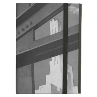 Vintage Steel Construction Skyscraper Architecture Cover For iPad Air