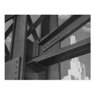 Vintage Steel Construction Skyscraper Architecture Postcard