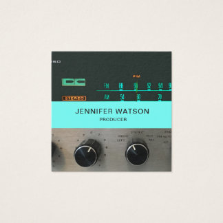 Vintage Stereo business card