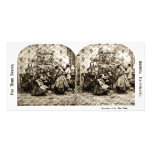 Vintage Stereoview - Christmas Eve by the Tree Picture Card