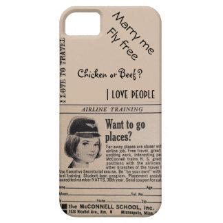 Vintage Stewardess Airline Flight Attendant iPhone 5 Case