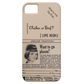 Vintage Stewardess Airline Flight Attendant iPhone 5 Cover