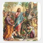 Vintage Sticker-Jesus Enters Jerusalem Sticker
