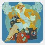 Vintage Sticker Jet-Setter Travel Luggage Stickers