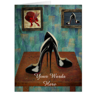 Vintage Stiletto Painting - Digital Art Big Greeting Card