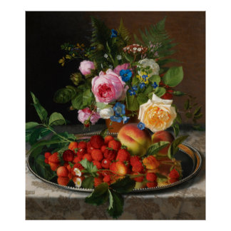 Vintage Still Life Art, Nature's Reward by Ottesen Poster
