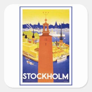 Vintage Stockholm Sweden Square Sticker