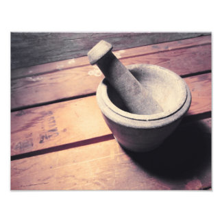 Vintage Stone Pestle and Mortar Retro Inspired Photo
