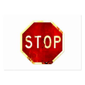 Vintage Stop Sign Business Cards