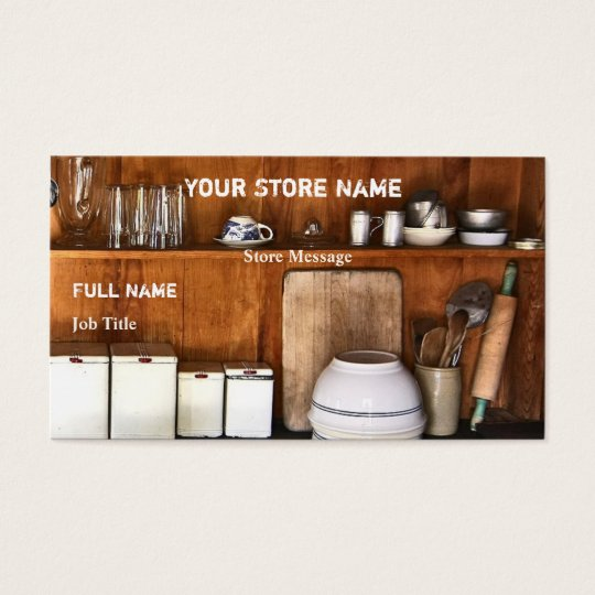 Vintage Store / Bake Shop Business Cards