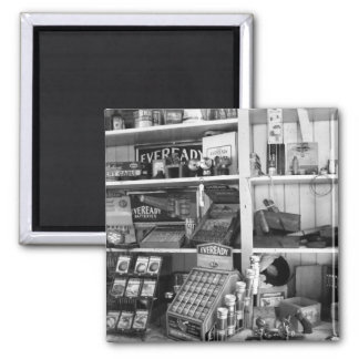 Vintage Store Shelves Fridge Magnets