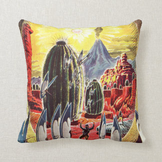 Vintage Stories of the Stars Science Fiction Alien Cushion