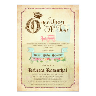 """Vintage Storybook"" Baby Shower Invitation 5x7"