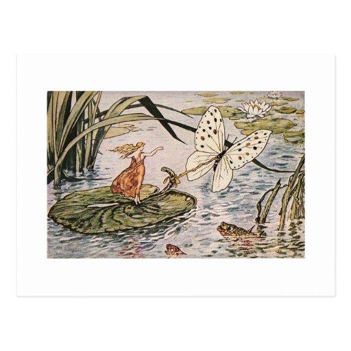 Vintage Storybook Thumbelina Postcards