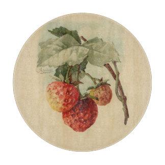 Vintage strawberries cutting board