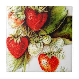 Vintage strawberry tile